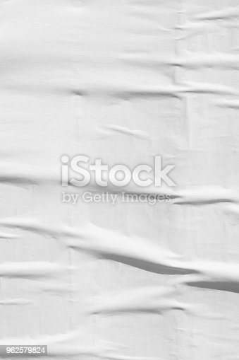 962578882 istock photo Blank old ripped torn paper crumpled creased posters grunge textures backdrop backgrounds 962579824