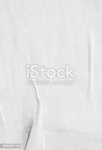 istock Blank old ripped torn paper crumpled creased posters grunge textures backdrop background 968338728