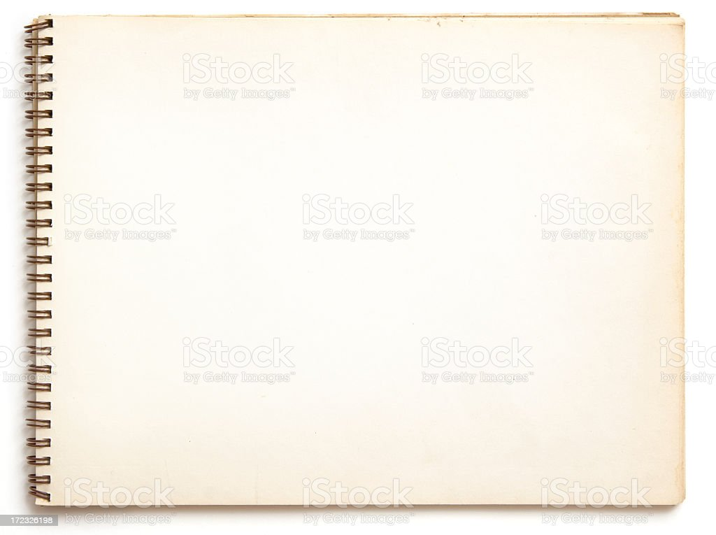 Blank old spiral bound notebook royalty-free stock photo