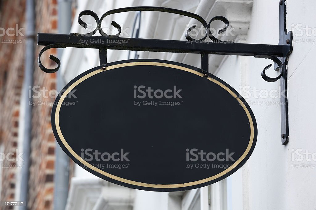 Blank old style sign stock photo