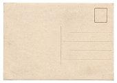 istock Blank old vintage postcard isolated 483288730