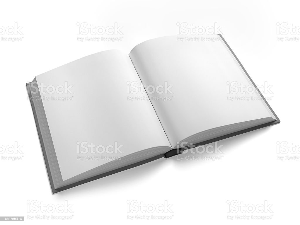 Blank Open Book Isolated on White with Clipping Path royalty-free stock photo