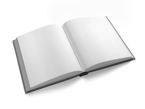 blank open book isolated on white with clipping path - hardcover book stock pictures, royalty-free photos & images