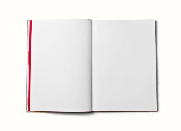 open boek met blanke pagina. - smeren stockfoto's en -beelden