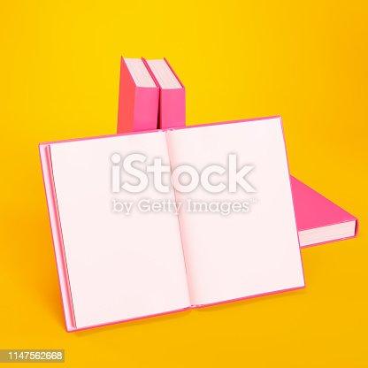 839809942istockphoto Blank Open Book Template 1147562668