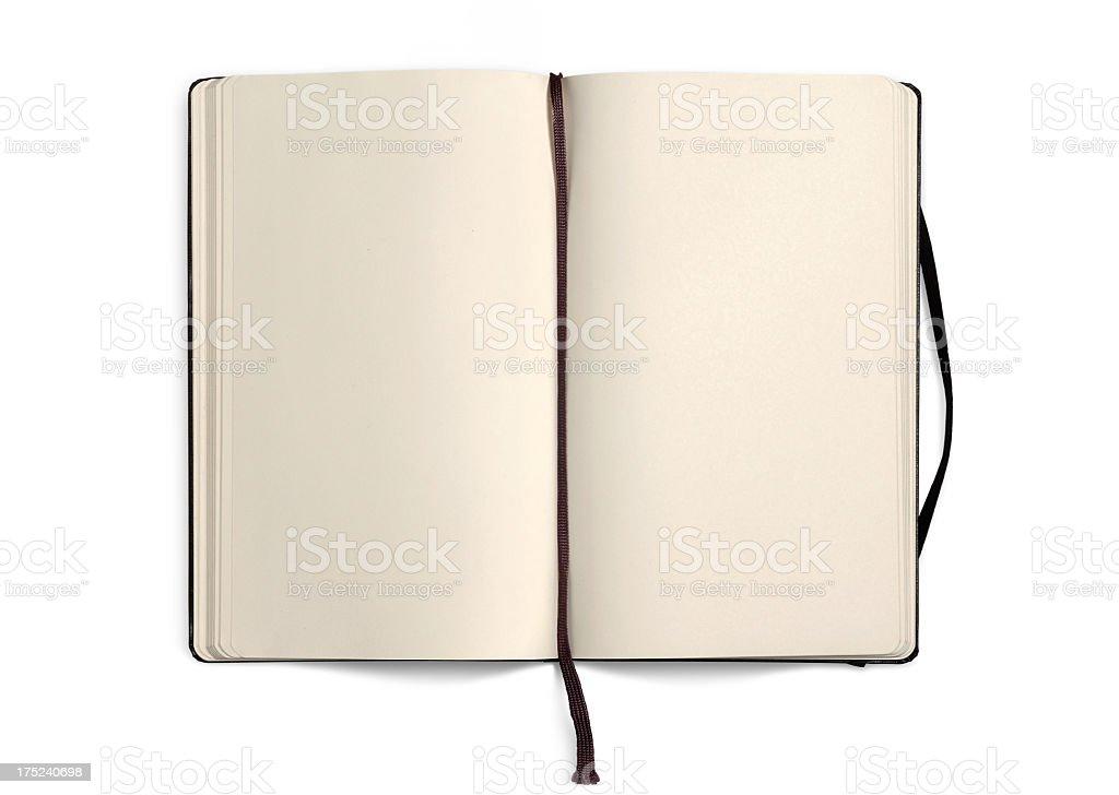 Vide Livre ouvert avec des Pages vides-Carnet - Photo