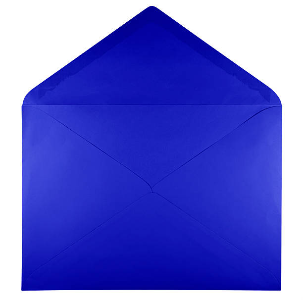 Royalty Free Envelope Open Blue White Pictures, Images and