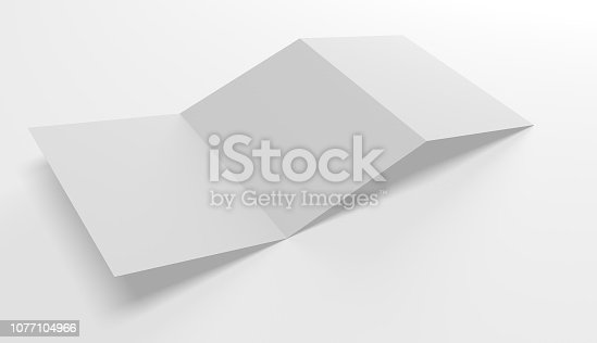 Blank open folder template