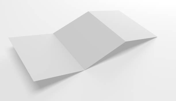 Blank open folder template stock photo