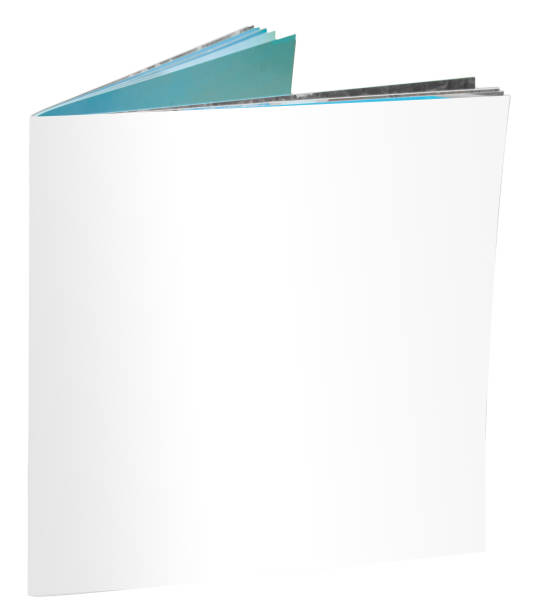 blank offenes magazin isoalated on white - planner inserts stock-fotos und bilder