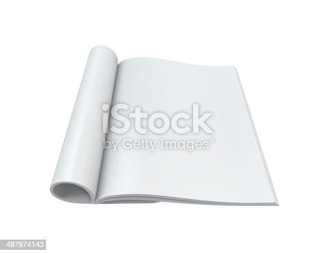 839809942istockphoto Blank Open Magazine 497974143