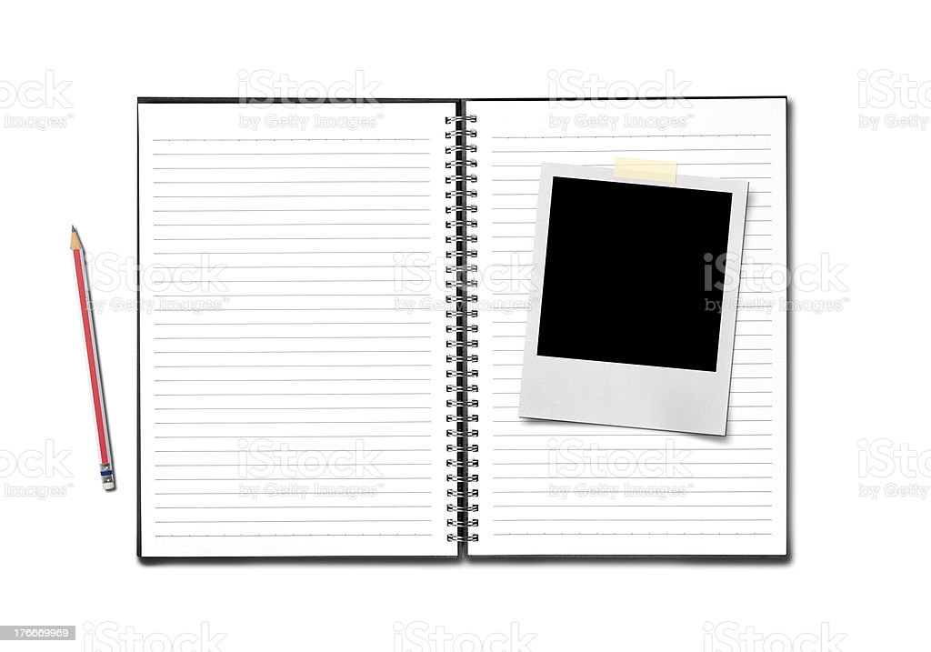 Blank open notebook royalty-free stock photo
