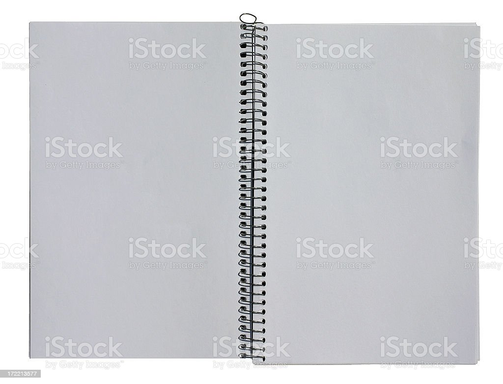 Blank Open Sketchbook - New royalty-free stock photo