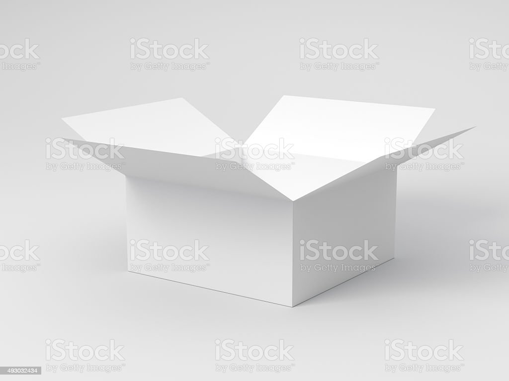 Blank Opened Box stock photo