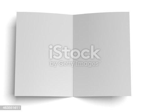 istock blank opened paper 463551611