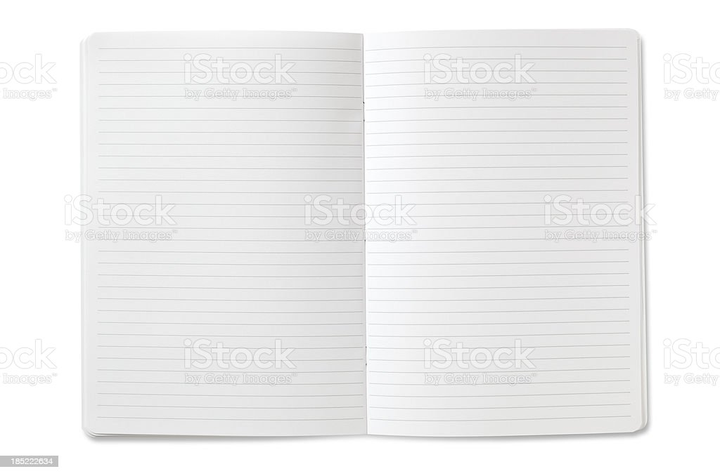 Blank open Notebook stock photo