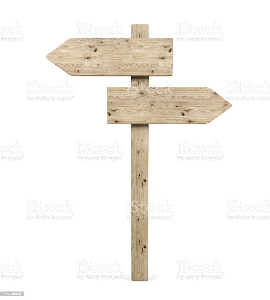 Gegenüber Holz Pfeilzeichen Richtung leer – Foto