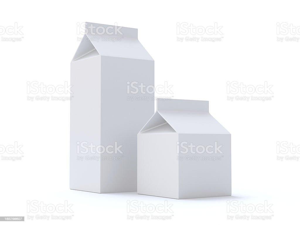 Boîtes vides ou de jus de fruits et lait - Photo