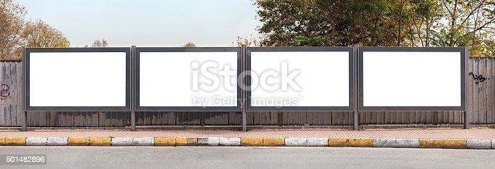 istock Blank outdoor - four billborads 501482896