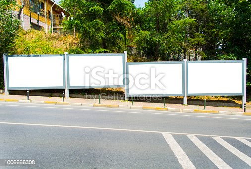 istock Blank outdoor four 1006666308