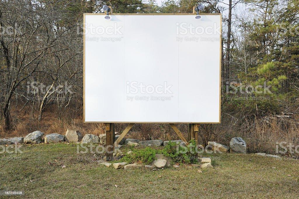 Blank outdoor screen stock photo