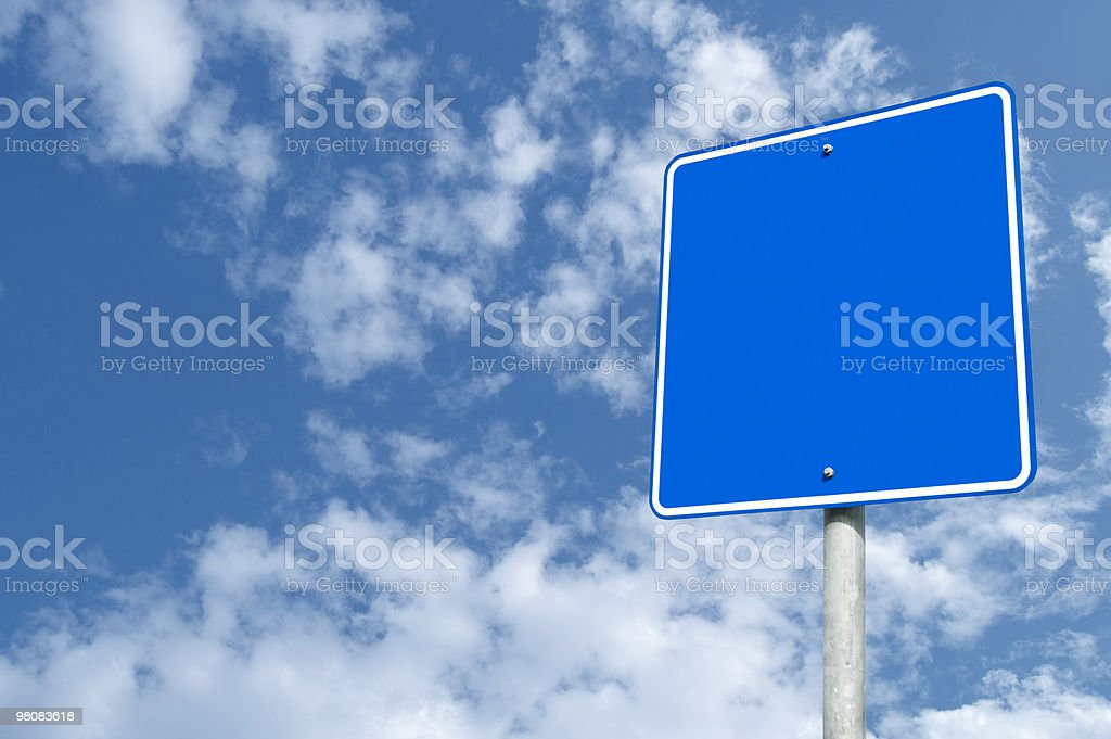 Blank Outdoor Sign royalty-free stock photo