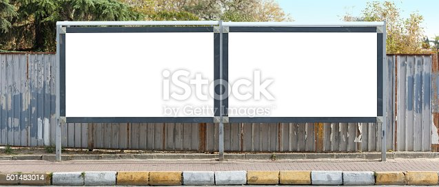 istock Blank outdoor - two billboards 501483014