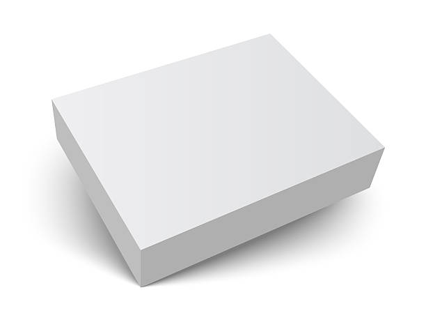 blank packaging box with shadow stock photo