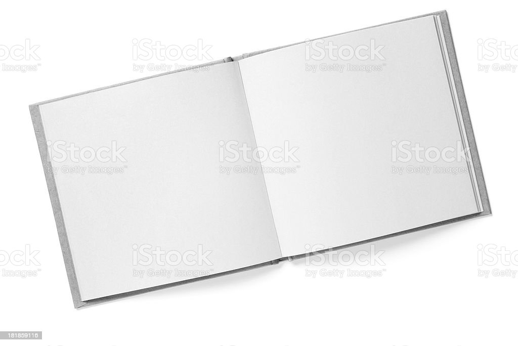 Blank page of book stock photo