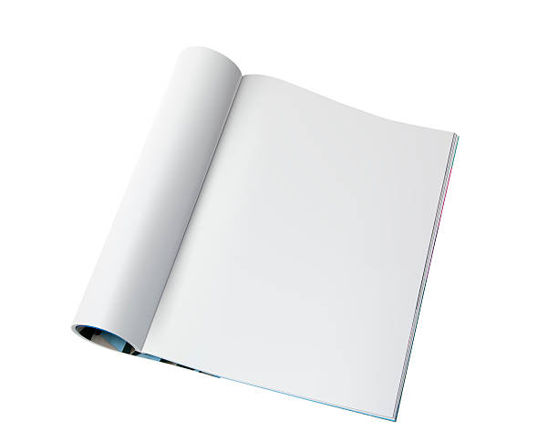 blank page of magazine - magazine stock photos and pictures
