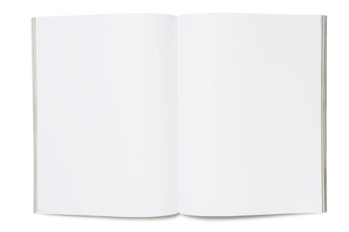 Blank magazine on white.