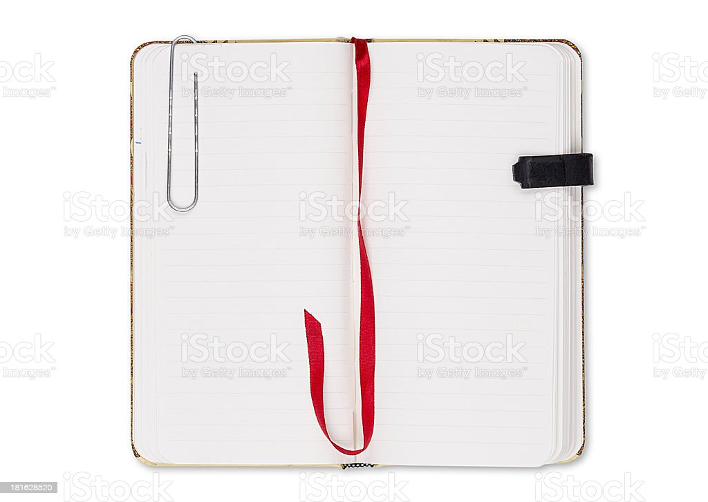 blank page of note book royalty-free stock photo