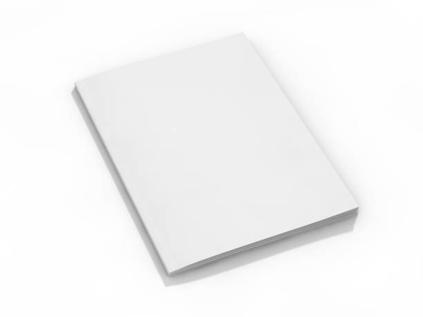 lege pagina of kladblok voor mockup of simulaties. 3d - magazine mockup stockfoto's en -beelden