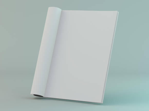 blank page or notepad for mockup or simulations. 3d - spargere foto e immagini stock