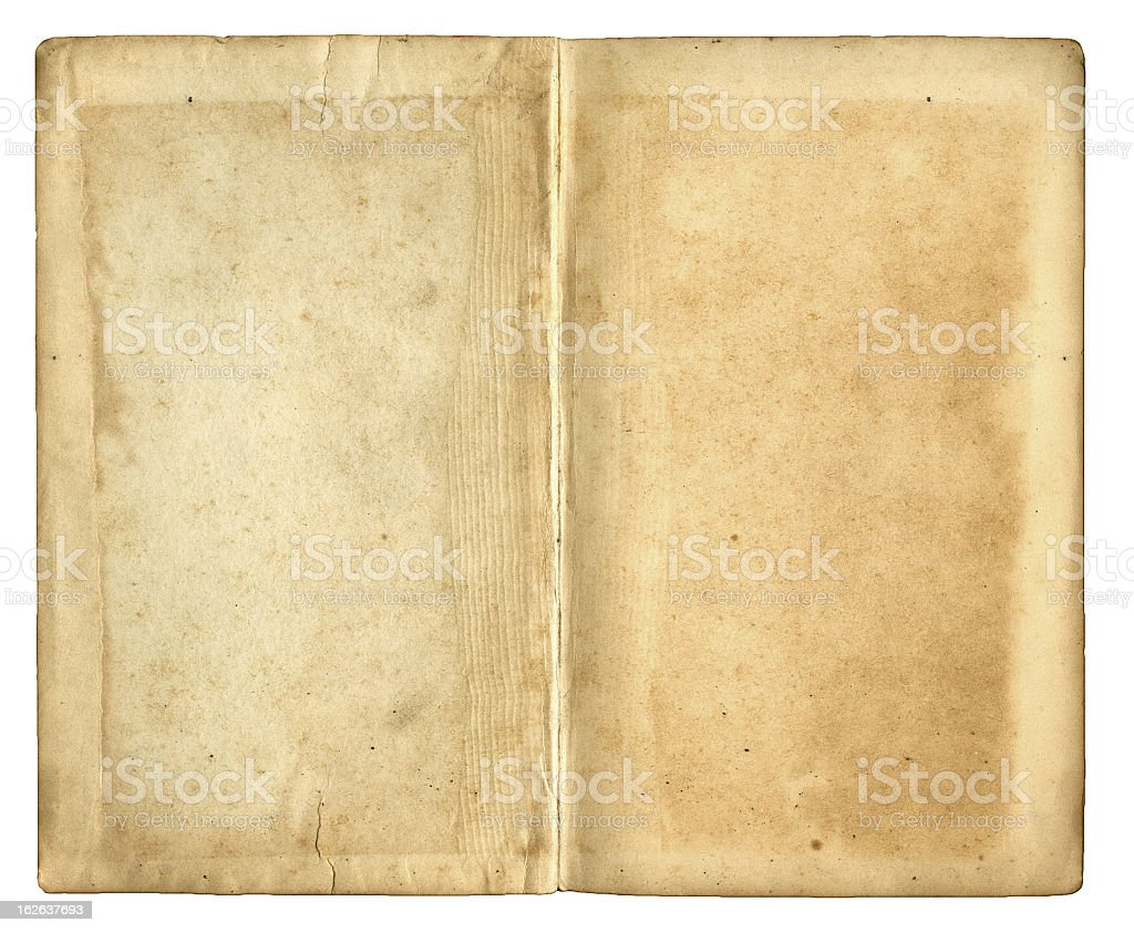 Blank pages in antique book royalty-free stock photo