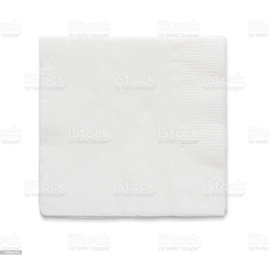 Blank papaer napkin stock photo