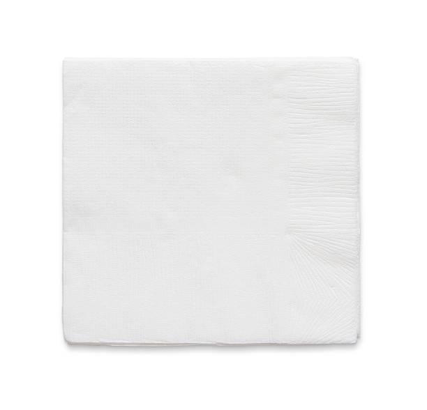 blank papaer napkin - servett bildbanksfoton och bilder