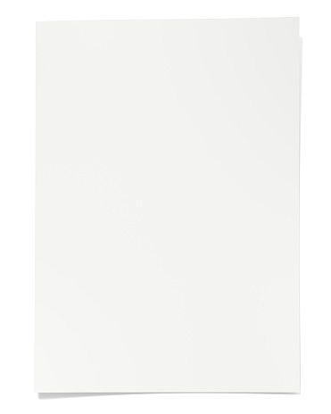 blank, paper, mockup, isolated on white, 3d rendering