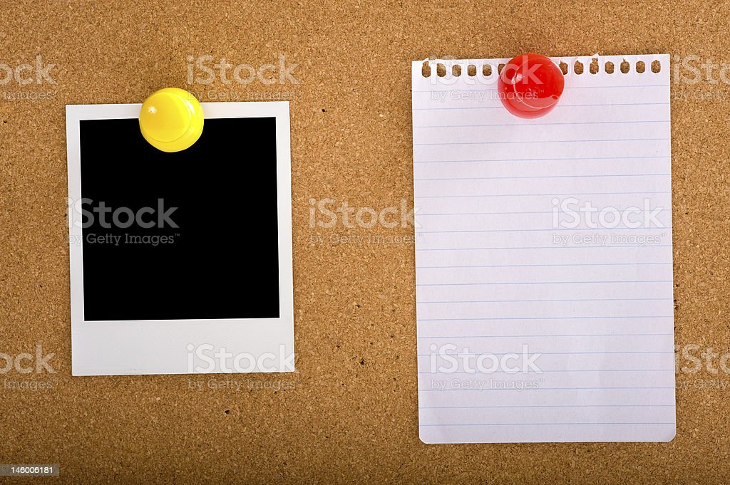 Blank Paper and Picture royalty-free stock photo