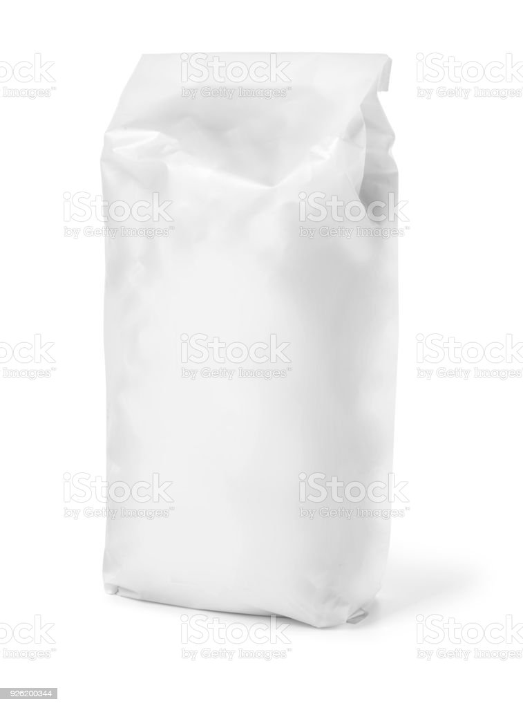 Blank paper bag package stock photo