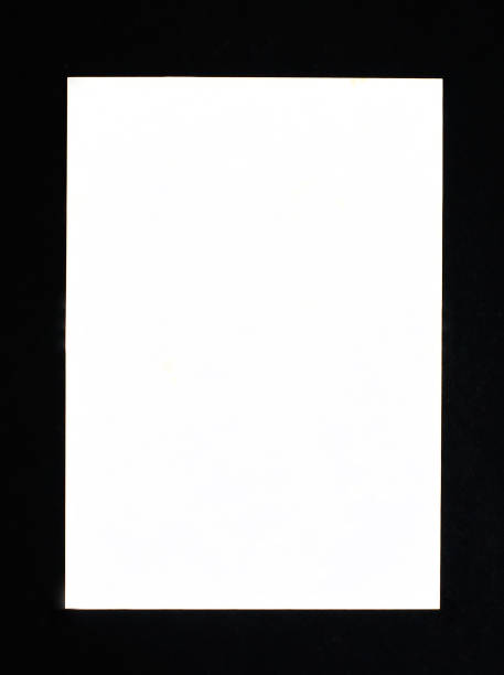 Blank paper black frame for picture isolated on white background Blank paper black frame for picture isolated on white background black border stock pictures, royalty-free photos & images