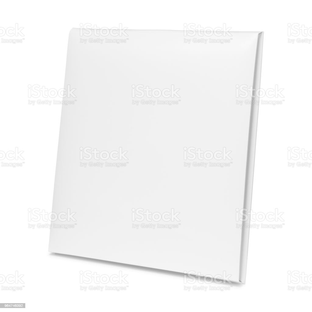 Blank paper box isolated on white background. Empty cardboard package for design. ( Clipping path ) royalty-free stock photo