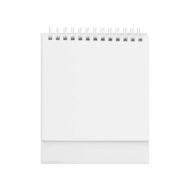 Blank paper desk spiral calendar. Blank paper desk spiral calendar. almanac stock pictures, royalty-free photos & images