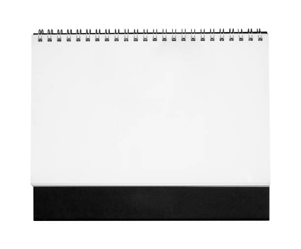 Boş kağıt masa sarmal takvimi. stok fotoğrafı
