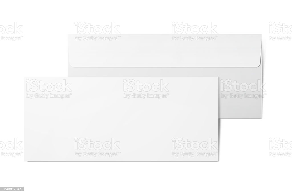 Blank paper envelopes stock photo