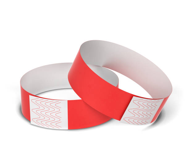 blank paper event bracelet - браслет стоковые фото и изображения