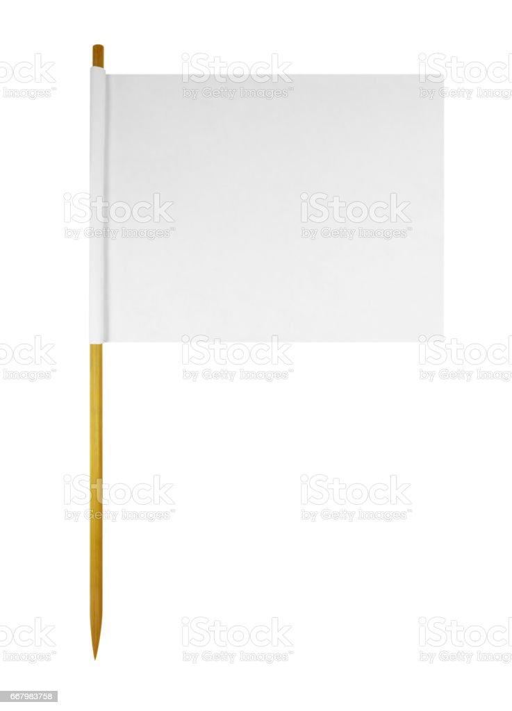 Blank paper flag stock photo