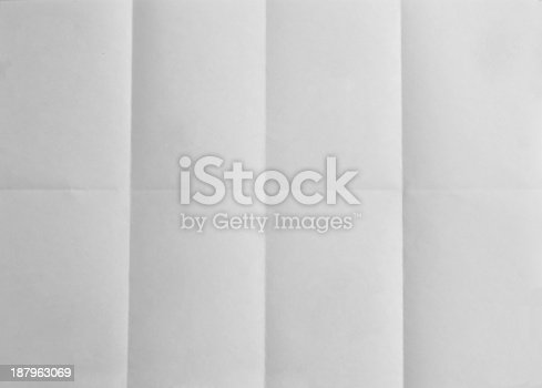 istock Blank paper folded on eight. Background 187963069
