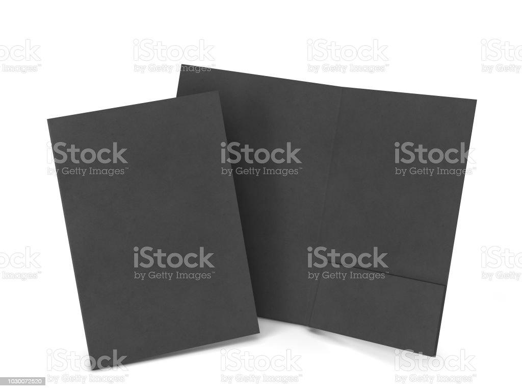 Blank paper folder mockup stock photo