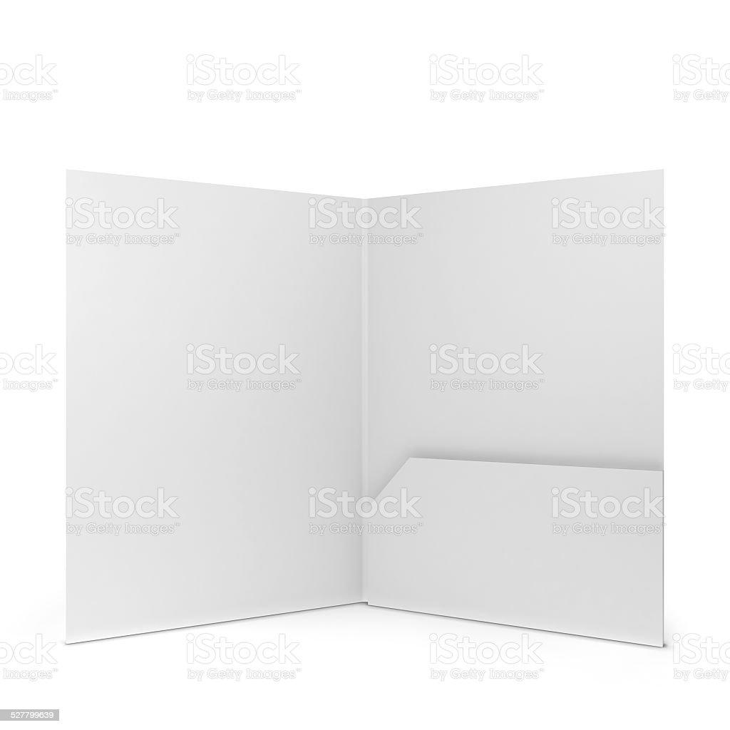 Blank paper folder stock photo